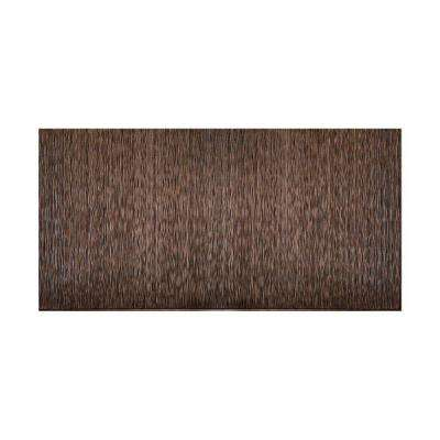 Ripple Vertical 96 in. x 48 in. Decorative Wall Panel in Smoke Pewter