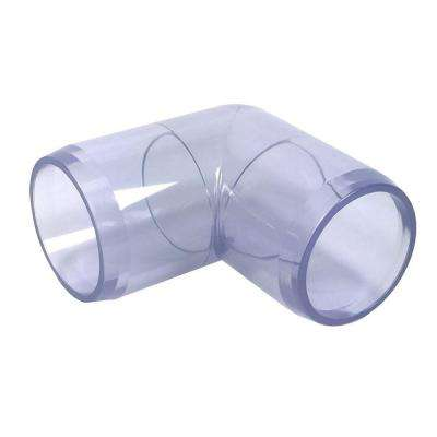 1-1/4 in. Furniture Grade PVC 90-Degree Elbow in Clear