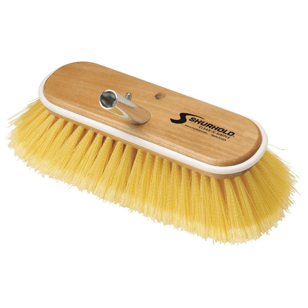 10 in. Deck Brush Soft Yellow Polystyrene
