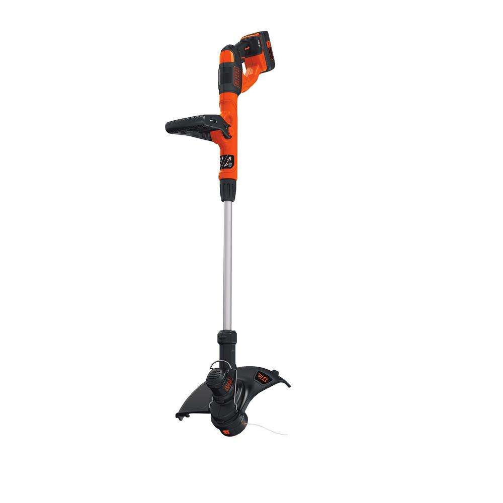 Black Decker 40v Max Lithium Ion Cordless String Trimmer With 1 1 5ah Battery And Charger Included Lst140c The Home Depot