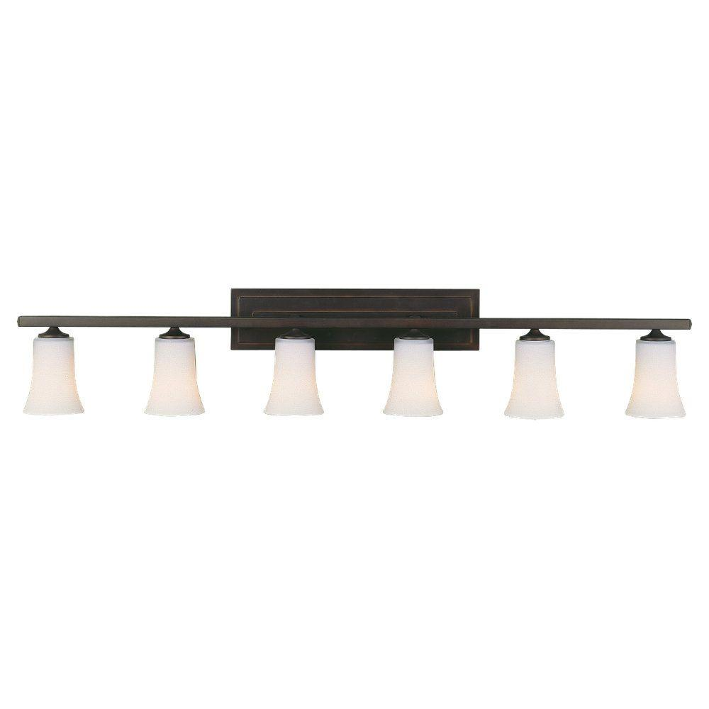 Murray Feiss Ceiling Fan Light Kit: Feiss Boulevard 48 In. W 6-Light Oil Rubbed Bronze Vanity