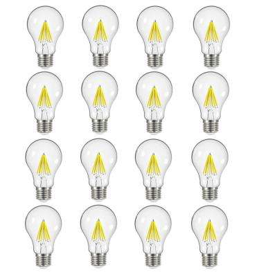60-Watt Equivalent A19 Dimmable ENERGY STAR Clear Filament Vintage Style LED Light Bulb Soft White (16-Pack)