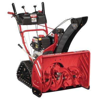 Storm Tracker 28 in. 277cc Two-Stage Electric Start Gas Snow Blower with Track Drive and Heated Grips