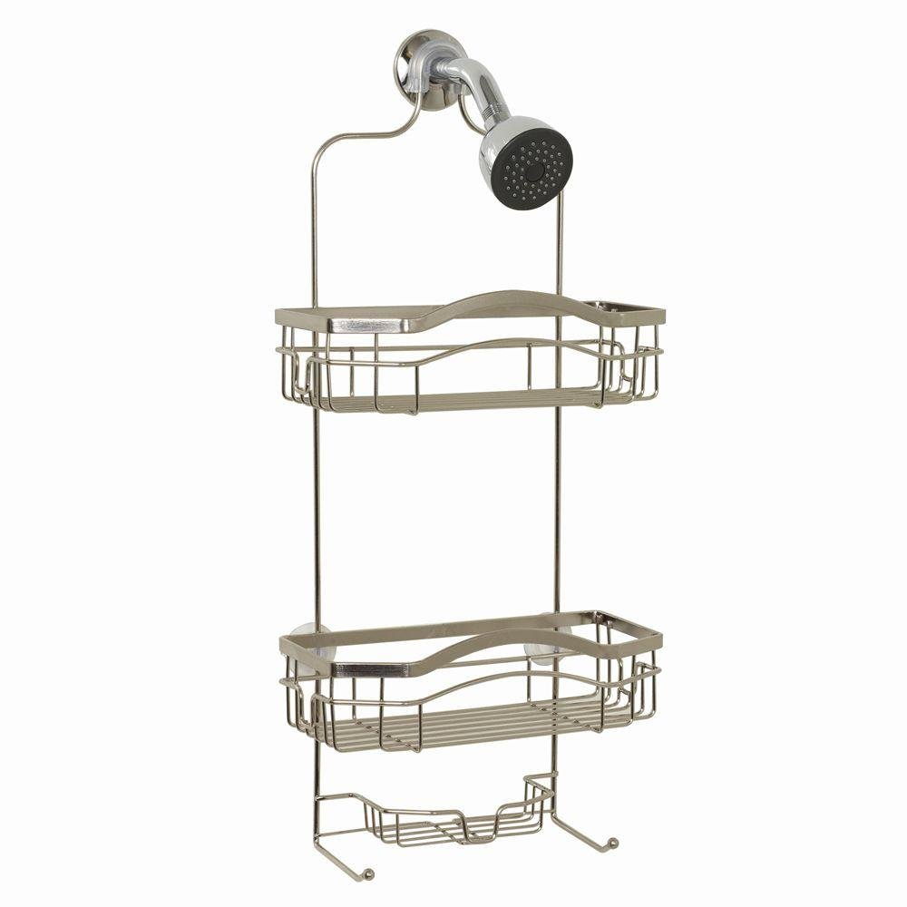 Premium Over-the-Shower Caddy in Stainless Steel