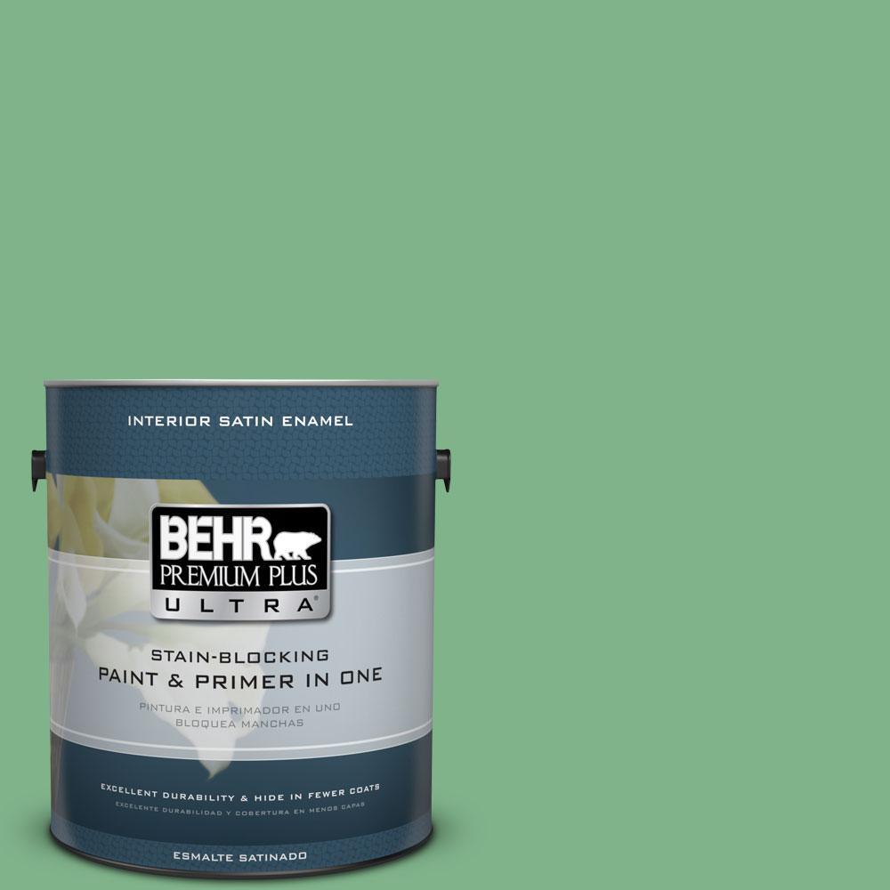 BEHR Premium Plus Ultra 1-gal. #460D-5 Tree Fern Satin Enamel Interior Paint