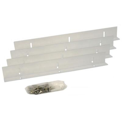 Shutter-Brackets for 12 in. Shutters, Clear Polycarbonate Mounting Brackets for Composite and Wood Shutters (4-Brackets)