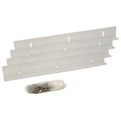Shutter-Brackets for 25 in. Shutters, Clear Polycarbonate Mounting Brackets for Composite and Wood Shutters (4-Brackets)