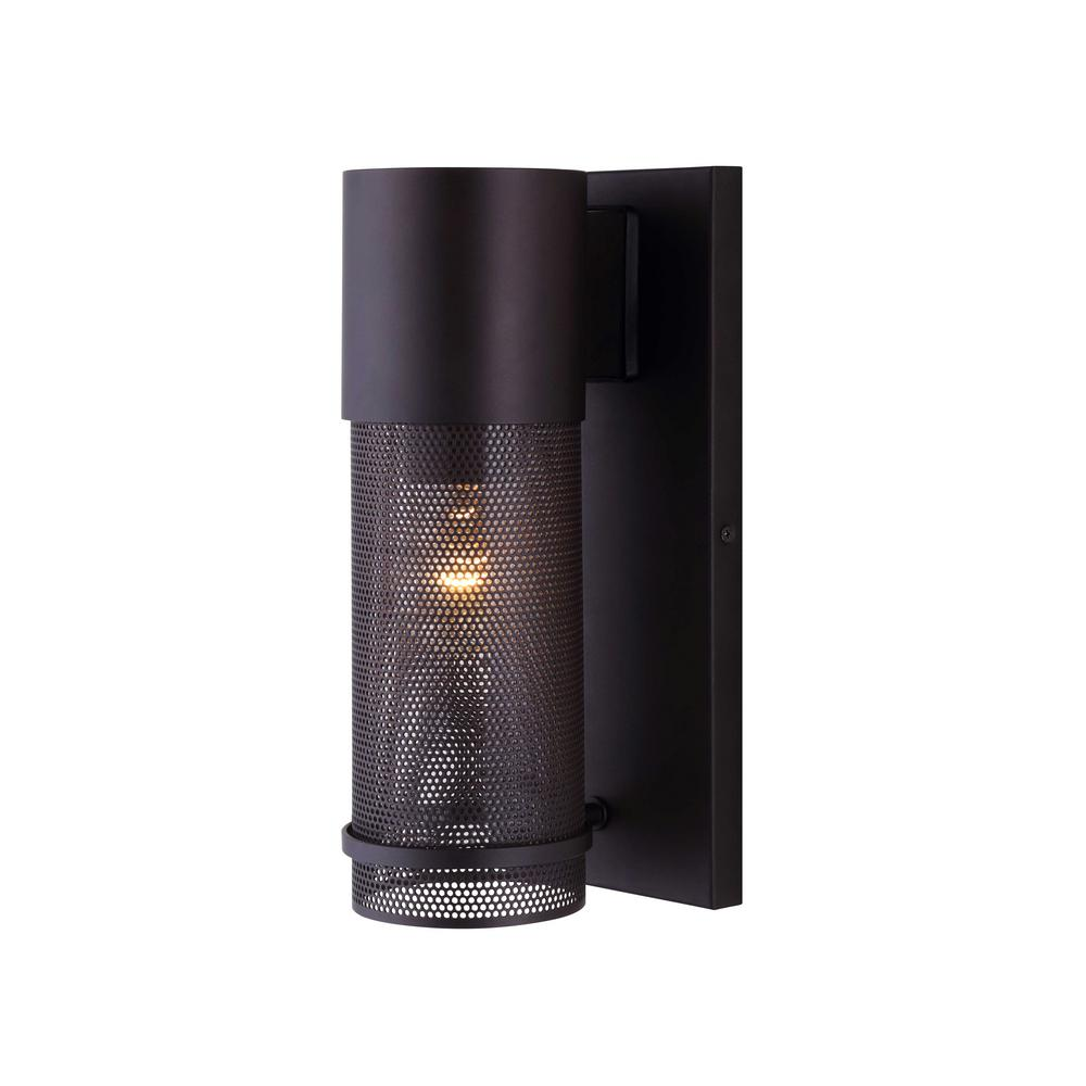 Alfie 1-Light Oil Rubbed Bronze Outdoor Wall Light with Mesh Cage