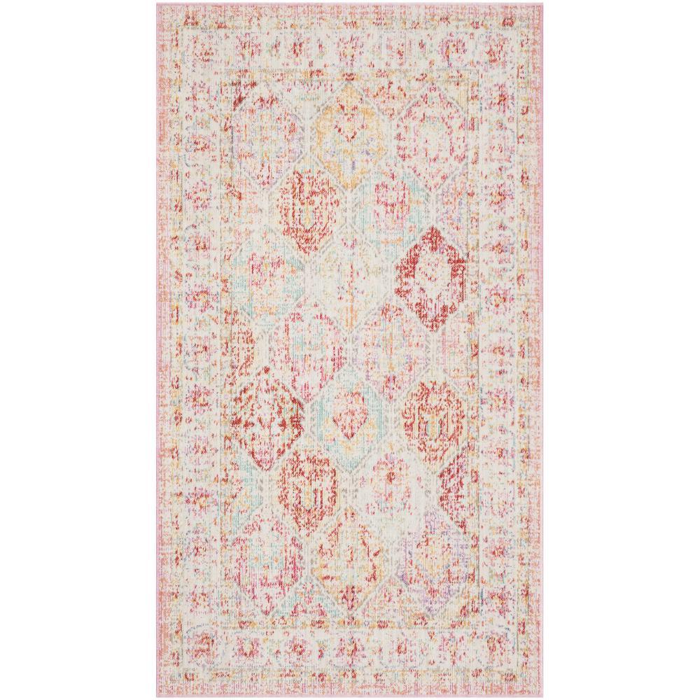 Windsor Pink/Multi 3 ft. x 5 ft. Area Rug