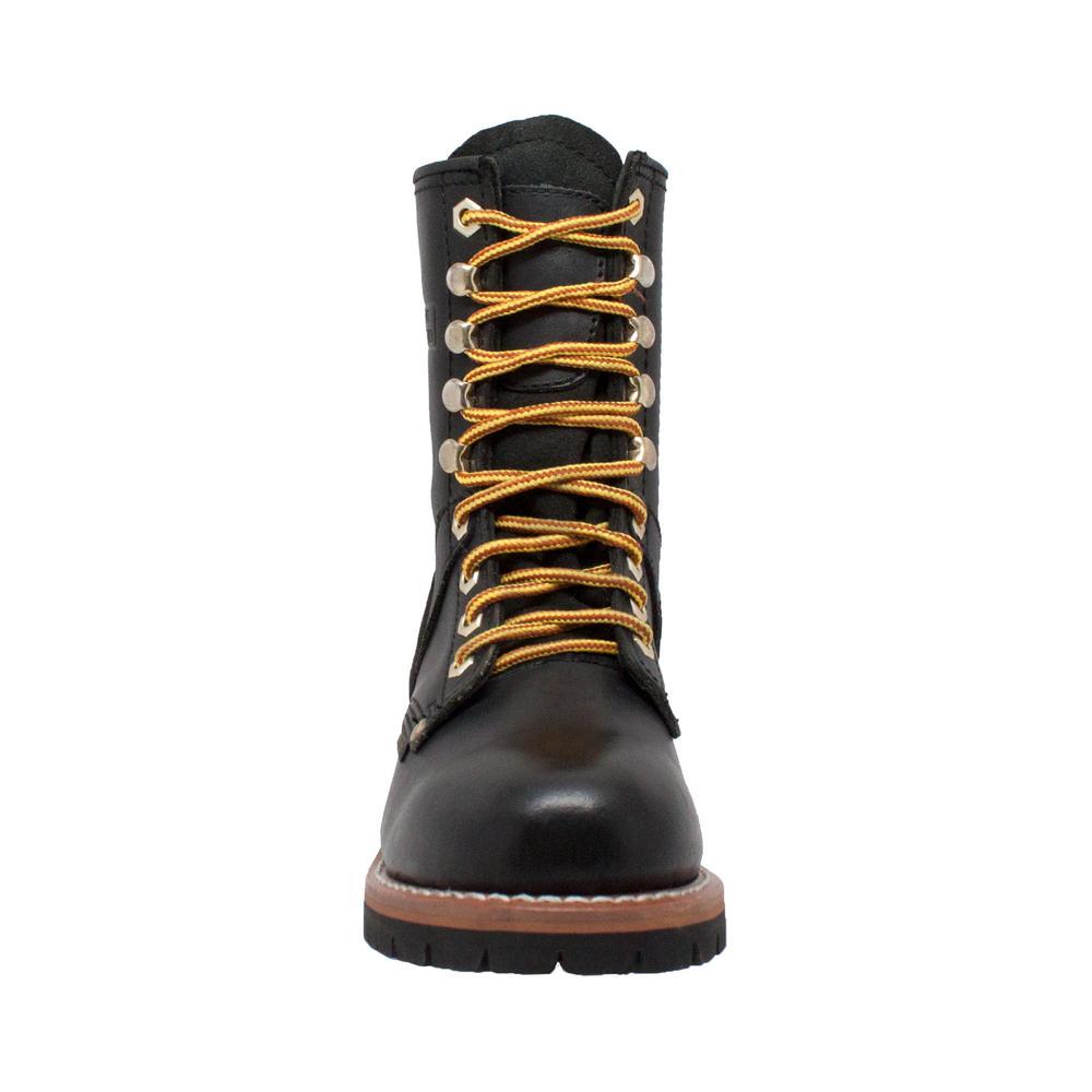 b499ed0d7c3 AdTec Women's Size 8.5 Black Grain Leather 9 in. Logger Boots
