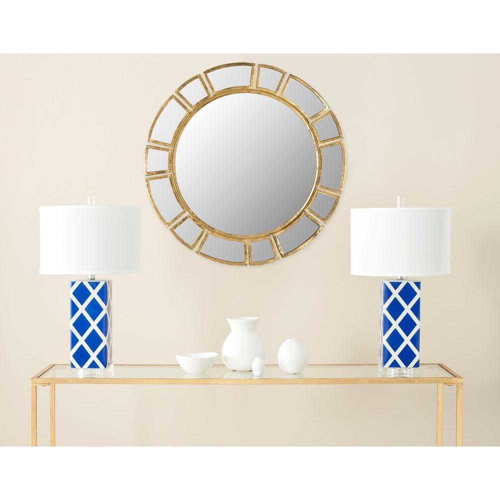 Deco Sunburst 30 in. x 30 in. Iron Framed Mirror