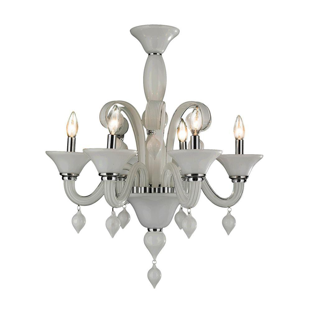 Worldwide lighting murano venetian style 6 light polished chrome worldwide lighting murano venetian style 6 light polished chrome hand blown glass chandelier aloadofball