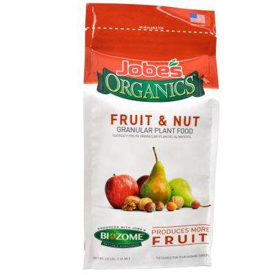 4 lb. Organic Granular Fruit and Nut Plant Food with Biozome, OMRI Listed