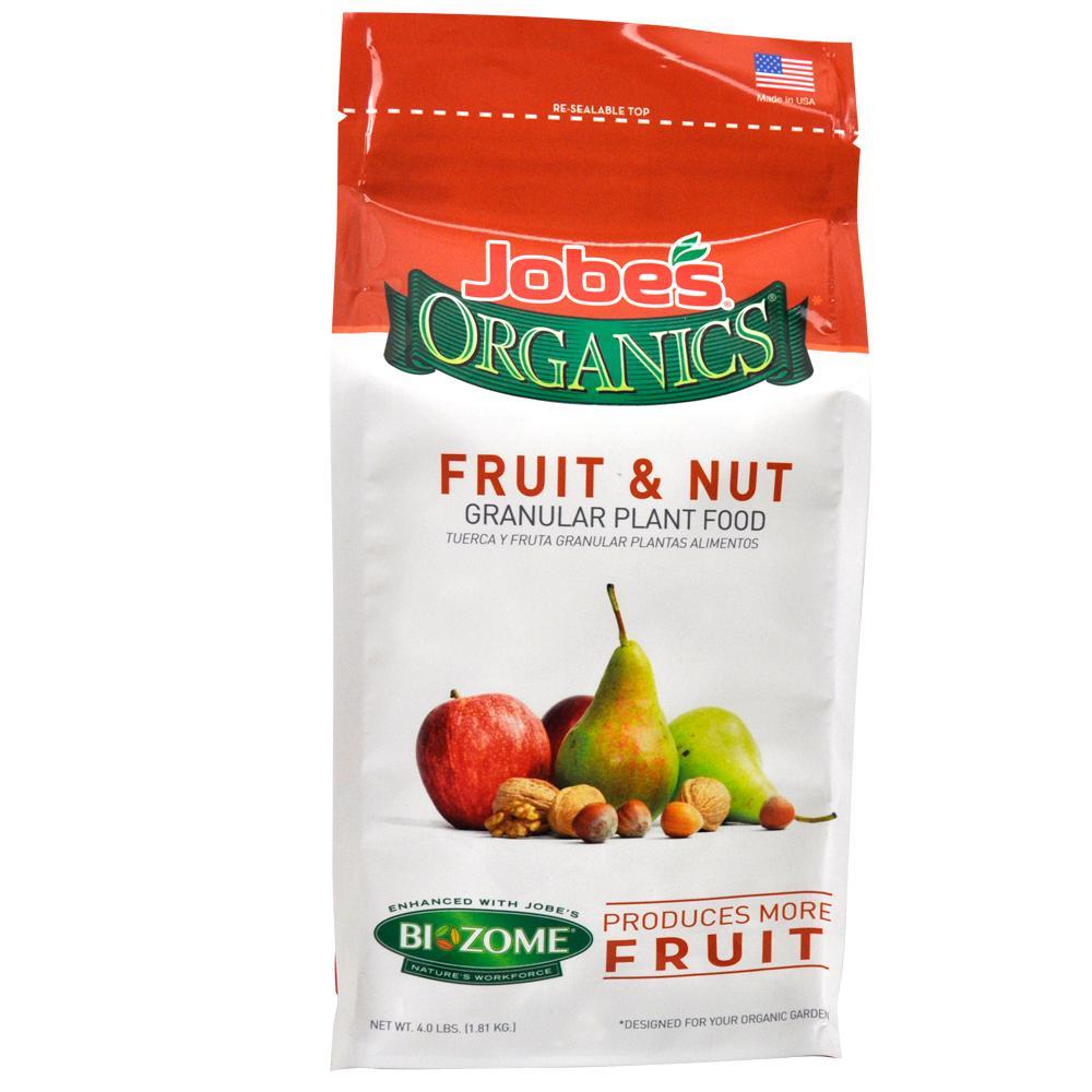 4 lb. Organic Granular Fruit and Nut Plant Food Fertilizer with Biozome, OMRI Listed