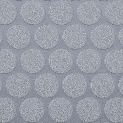 Small Coin 10 ft. x 24 ft. Slate Grey Commercial Grade Vinyl Garage Flooring Cover and Protector