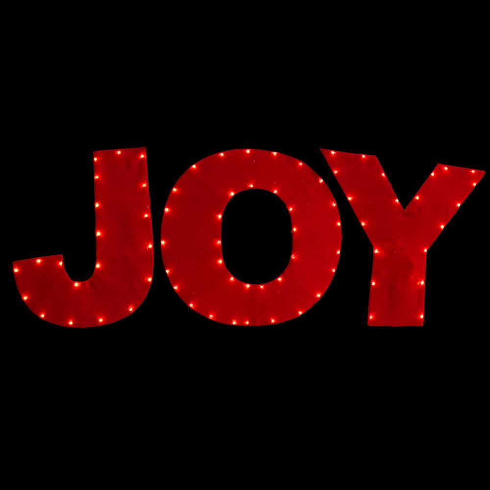 National tree company pre lit 30 in red joy decoration for Lit national
