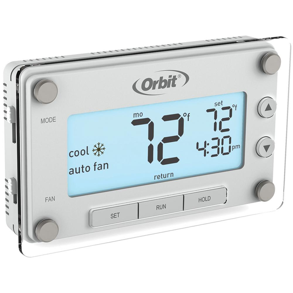Orbit Orbit Clear Comfort Programmable Thermostat with Large, Easy-to-Read Display