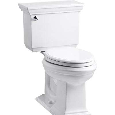 Memoirs Stately 2-Piece 1.28 GPF Elongated Toilet in White with Cachet Q3 Toilet Seat