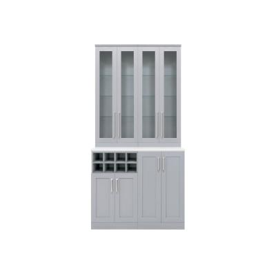 Home Bar 21 in. Gray Cabinet Set (5-Piece)