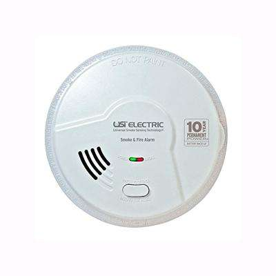 2-in-1 Smoke and Fire Alarm Detector, Hardwired, 10 Year Sealed Battery Backup, Microprocessor Technology
