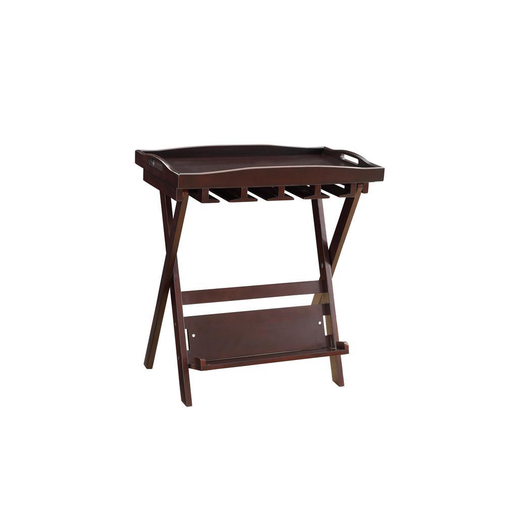 Westry Espresso Tray Side Table