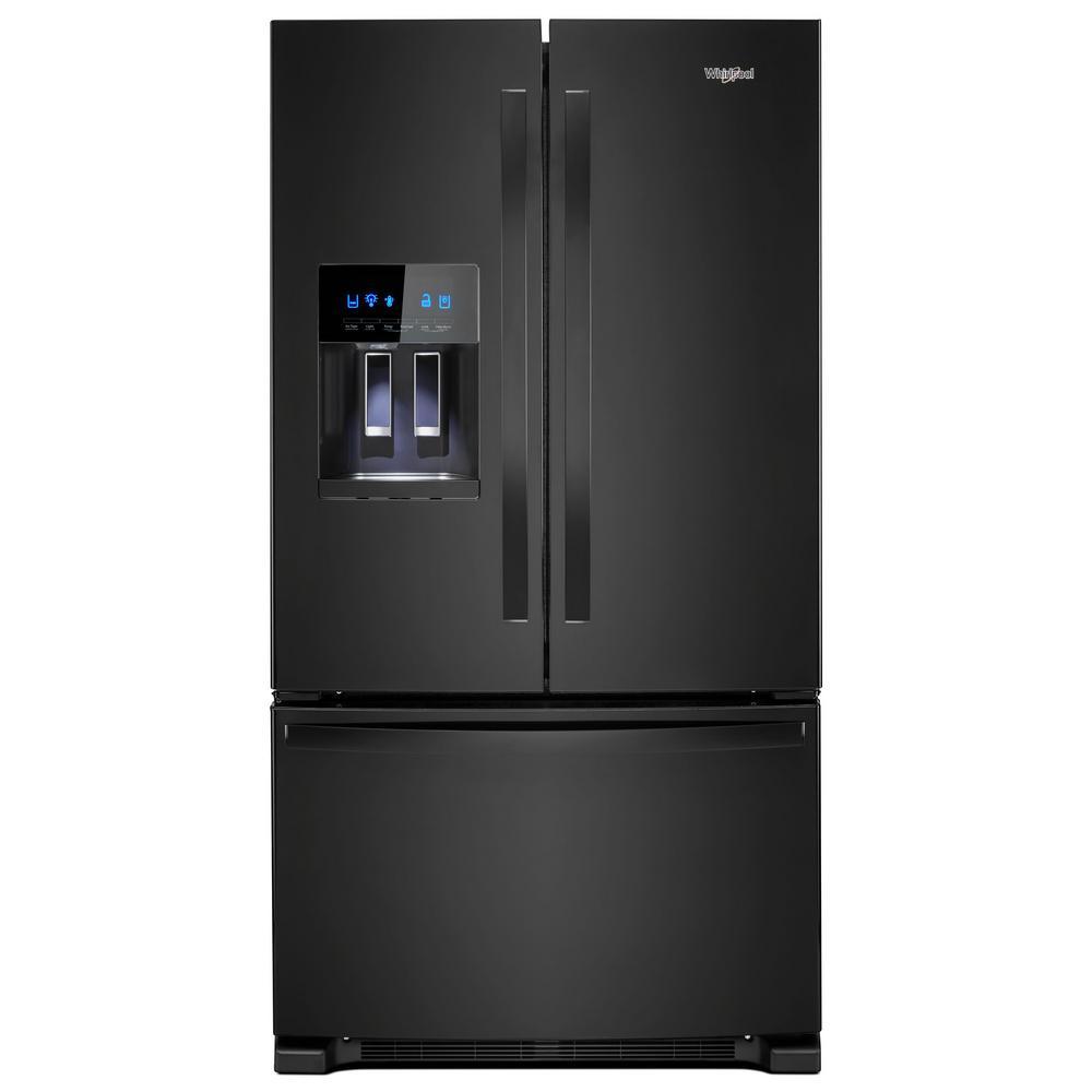 Whirlpool 36 in. W 25 cu. ft. French Door Refrigerator in...