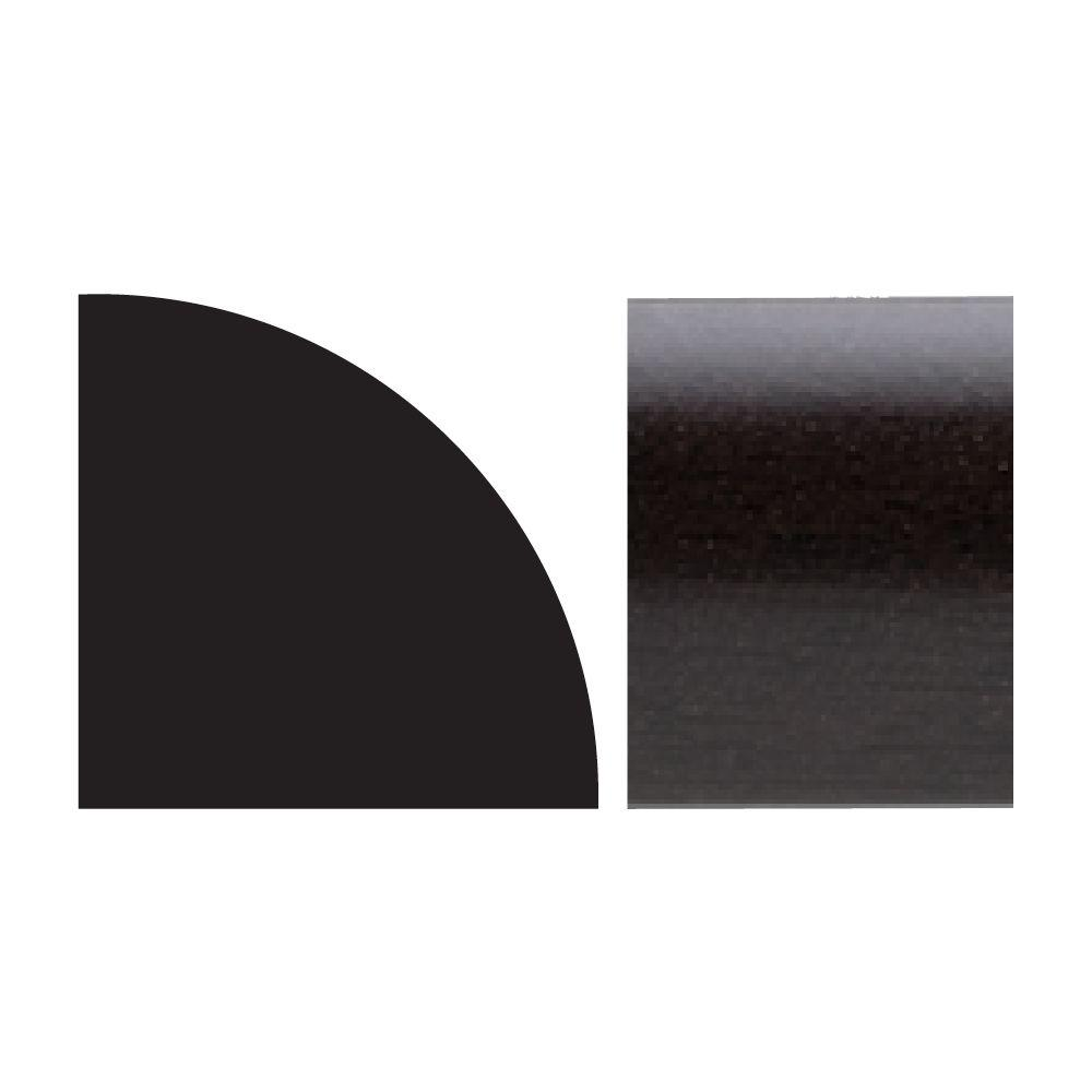 Royal Mouldings 5111 5/8 in. x 5/8 in. x 8 ft. PVC Composite Espresso Quarter Round Moulding