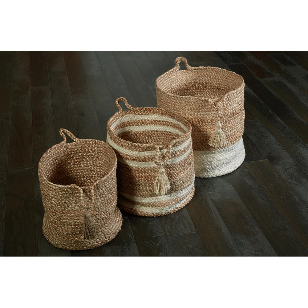 LR Resources Natural Jute Decorative Storage Basket  sc 1 st  The Home Depot : decorative storage bins with lids  - Aquiesqueretaro.Com