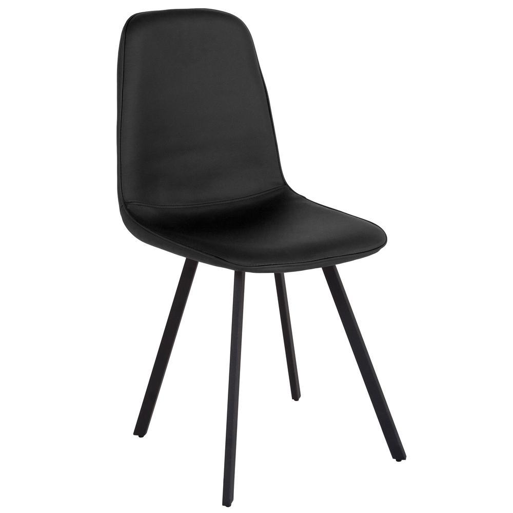 Black Vinyl Dining Chair