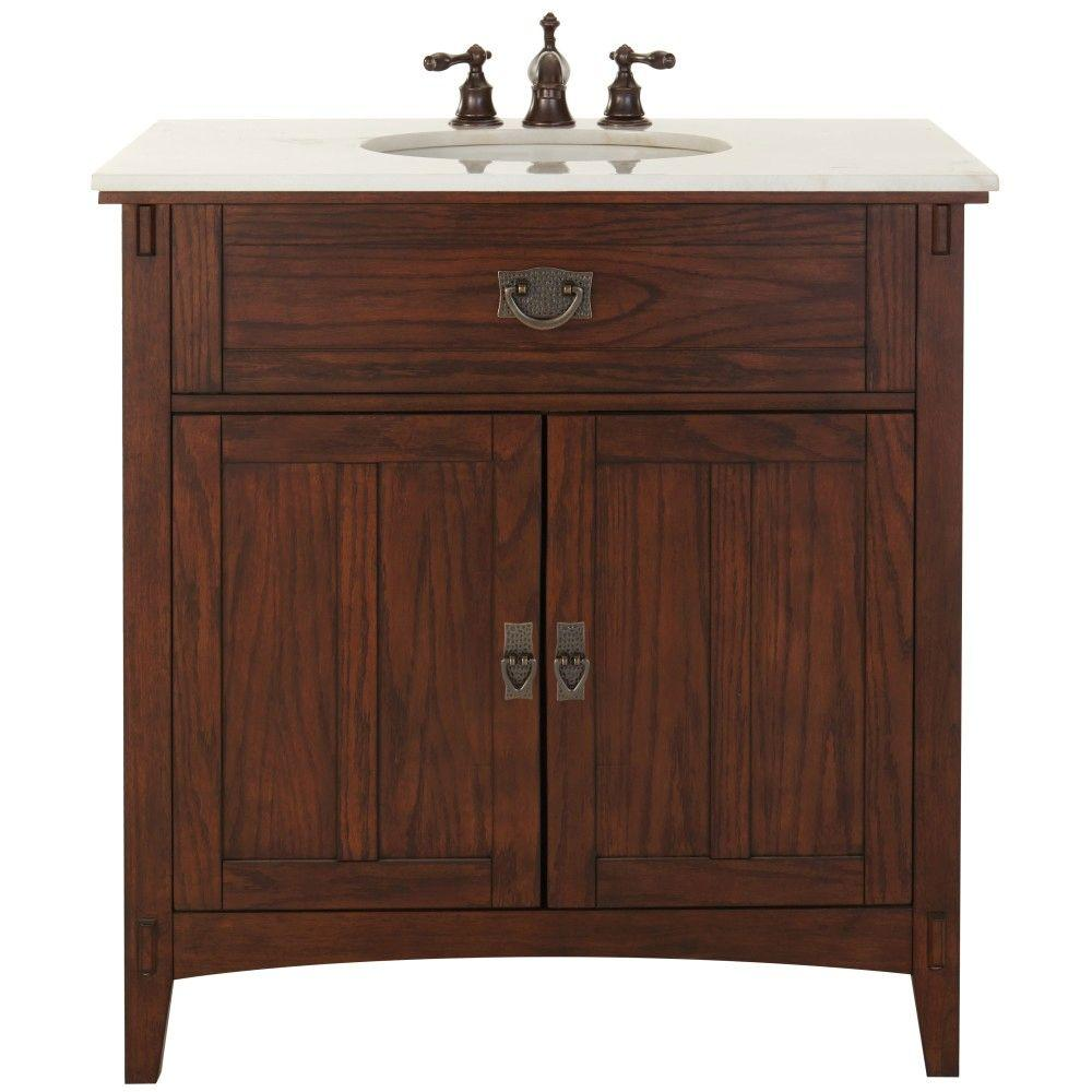home decorators collection natural oak home decorators collection artisan 33 in w vanity in 12851