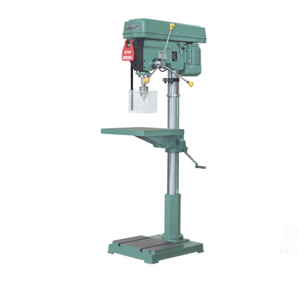 General international 22 in heavy duty floor drill press for Chuck s hardwood flooring