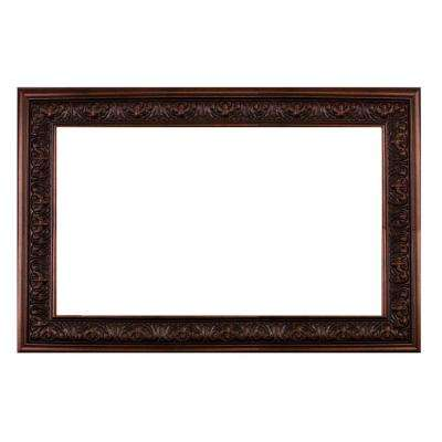 Milan 60 in. x 42 in. Mirror Frame Kit in Bronze Brown - Mirror Not Included
