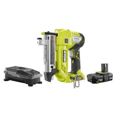 18-Volt ONE+ 23-Gauge Cordless AirStrike Headless Pin Nailer Kit with 2 0  Ah Battery and Charger
