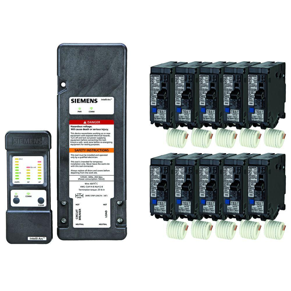siemens arc fault diagnostic tool and 10 units of 20 amp arc fault circuit breakers online. Black Bedroom Furniture Sets. Home Design Ideas