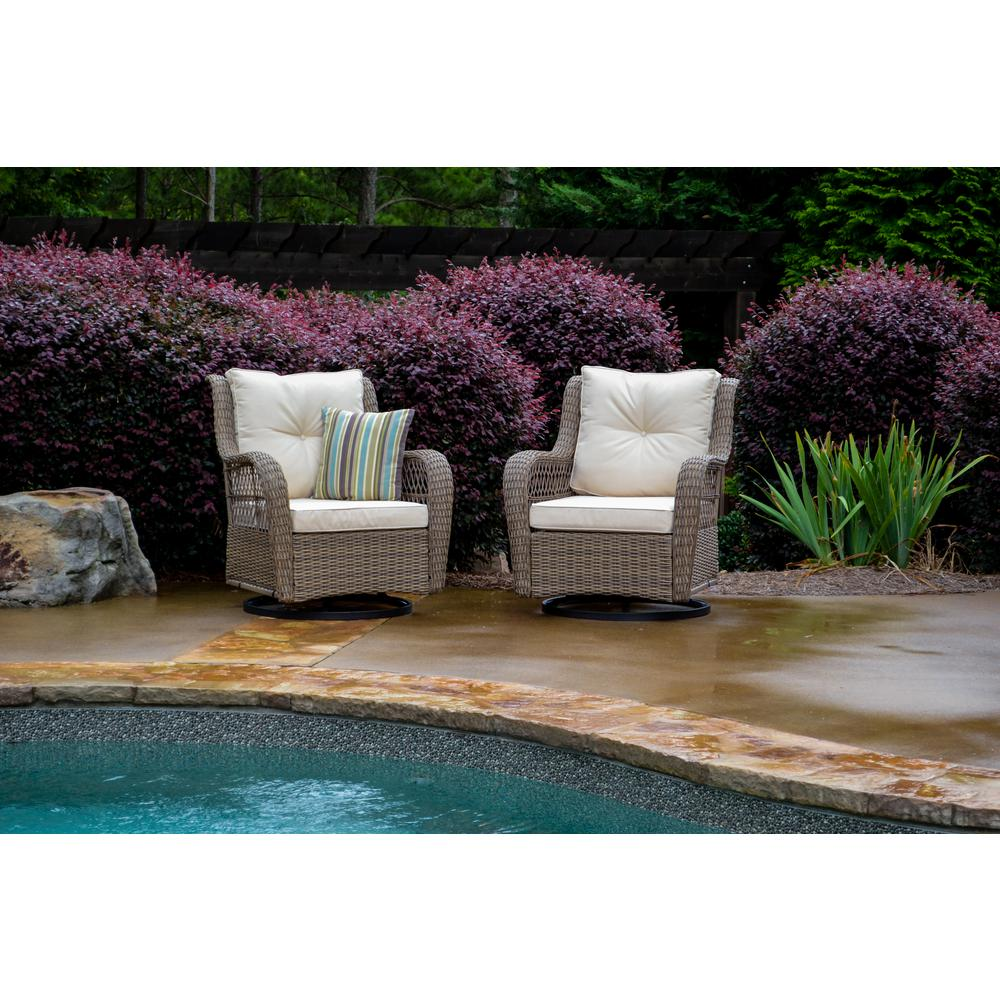 Surprising Tortuga Outdoor Rio Vista Wicker Outdoor Swivel Glider Chair With Beige Cushion 2 Pack Beatyapartments Chair Design Images Beatyapartmentscom