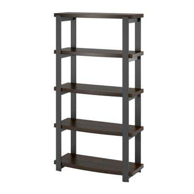 Sycamore Espresso 4-Shelf Bookcase