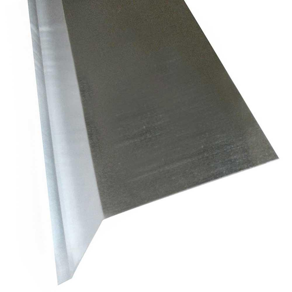 Gibraltar Building Products 3 In X 2 In X 10 Ft Galvanized Steel Gutter Apron Flashing 02069r The Home Depot