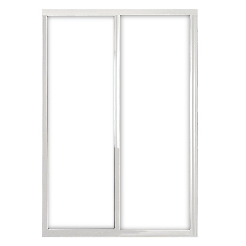 72 in. x 81 in. Silhouette 1-Lite Mystique Glass Bright Clear