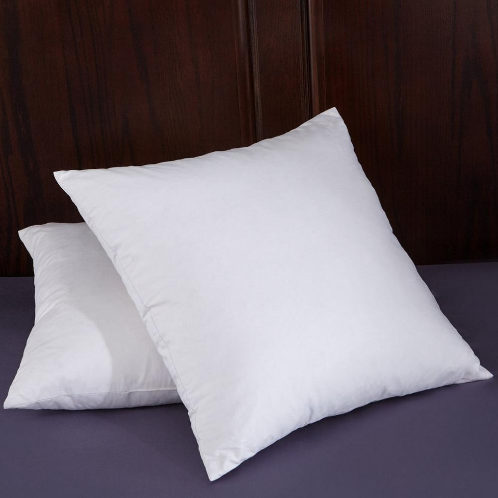 Puredown Puredown White Goose Feather 18 inch Square Pillow Insert (Set of 2) in White