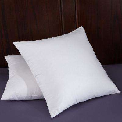 Puredown White Goose Feather 18 inch Square Pillow Insert (Set of 2) in White