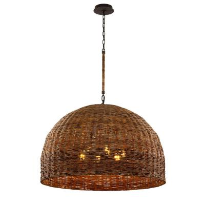 Huxley 6-Light Tidepool Bronze LED Pendant