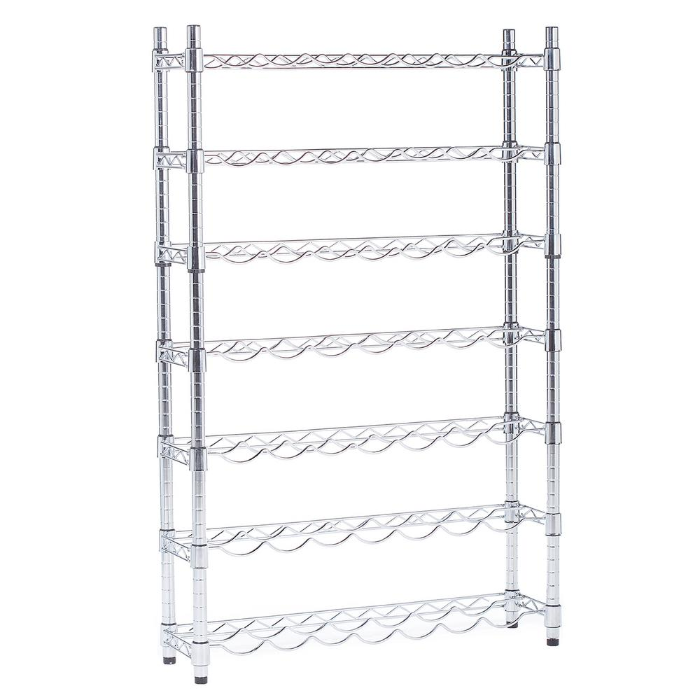 Epicurean Wine Storage System 7-Row 49-Bottle Silver Wine Rack