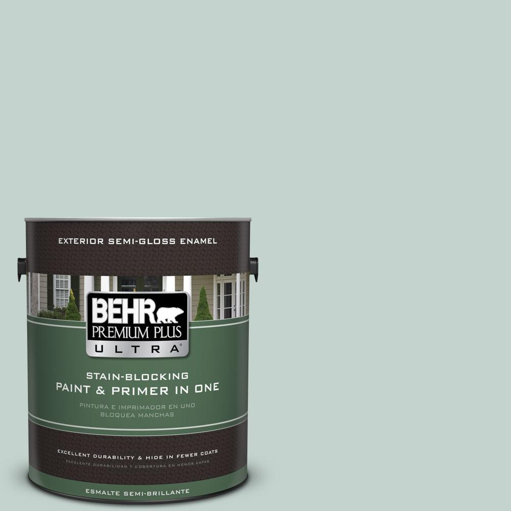 1 gal. #N430-2 Nature's Reflection Semi-Gloss Enamel Exterior Paint