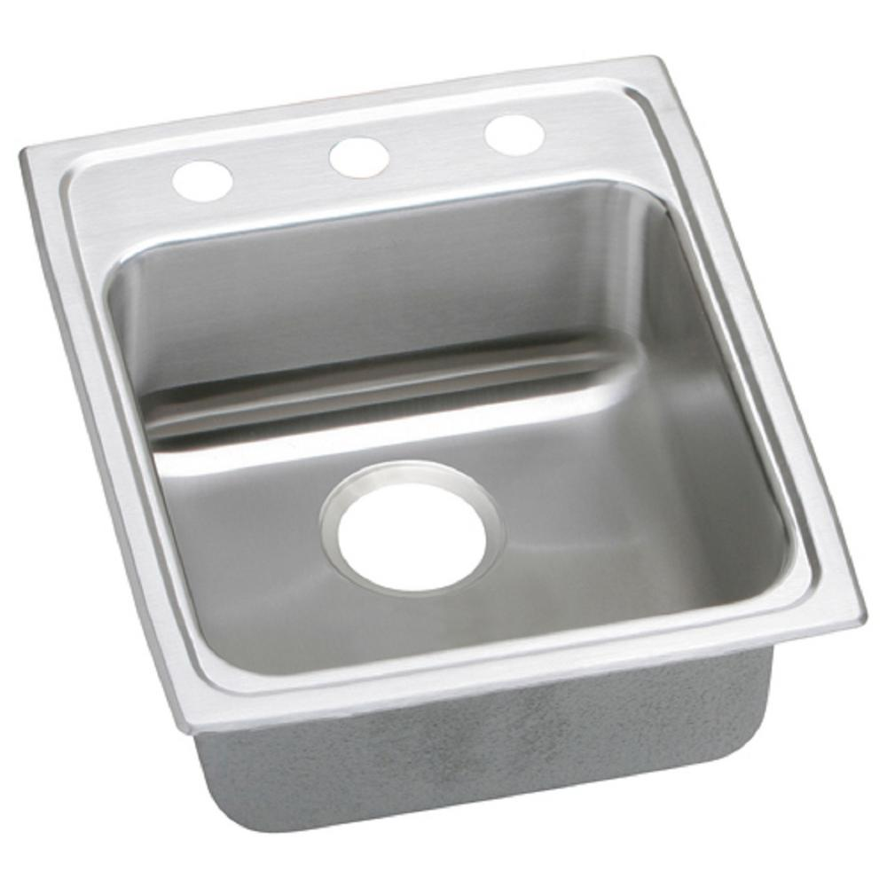 kitchen sinks single bowl elkay lustertone undermount stainless steel 14 in single 6090