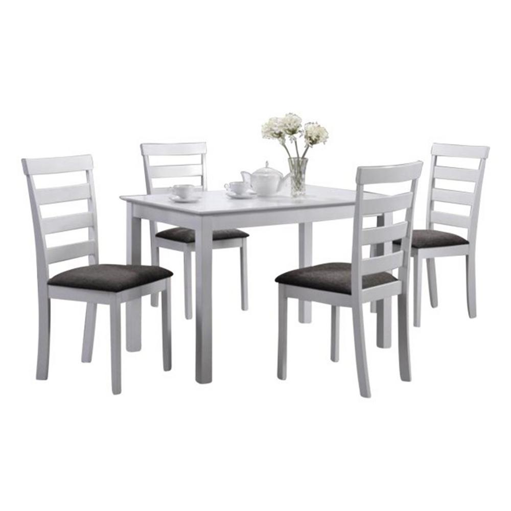 Oakland Living Indoor Black and White Ladder-Back 5-Piece Dining