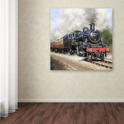 """24 in. x 24 in. """"Steam train Square"""" by The Macneil Studio Printed Canvas Wall Art"""