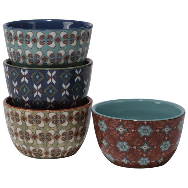 Certified International Monterrey 6 in. x 3.25 in. Multi-Colored Ice Cream Bowl (Set of 4)