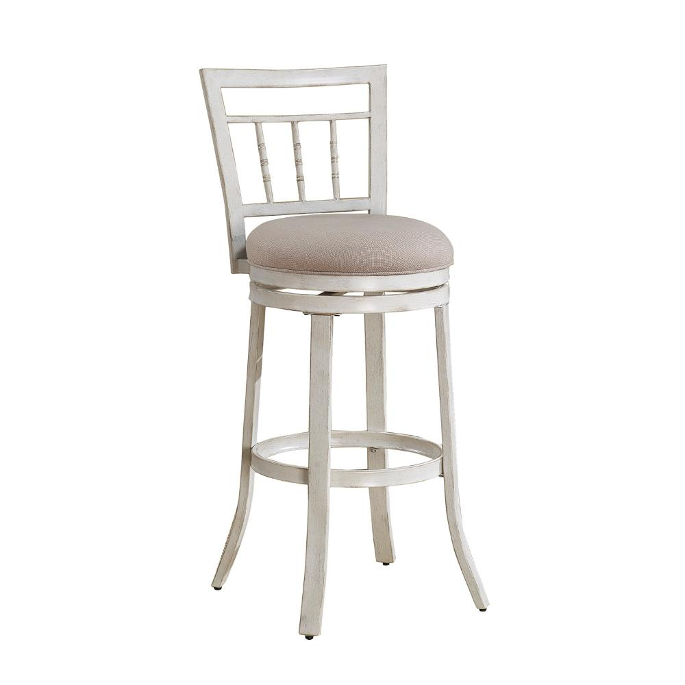 American Woodcrafters Palazzo 26 In Antique White Swivel Counter Stool B1 153 26f The Home Depot