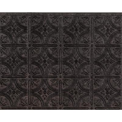 18.5 in. x 24.3 in. Empire Decorative Backsplash Vinyl Wall Paneling in Smoked Pewter (6-Pieces)