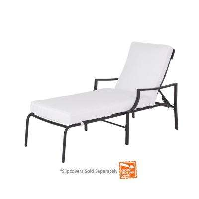 oak heights metal outdoor patio chaise lounge with cushions included choose your own color - Chaise Metal